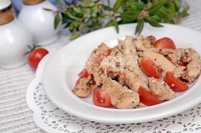 рецепт куриного филе в кляре с кунжутом