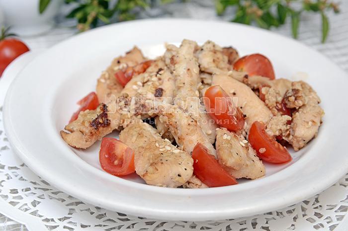 Филе куриное рецепт с кунжутом и