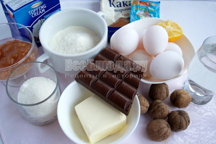ингредиенты для грильяжного торта