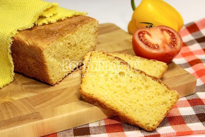 Кукурузный хлеб в разрезе
