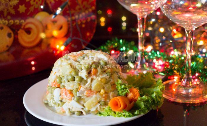 простой салат на новый год, рецепт с фото