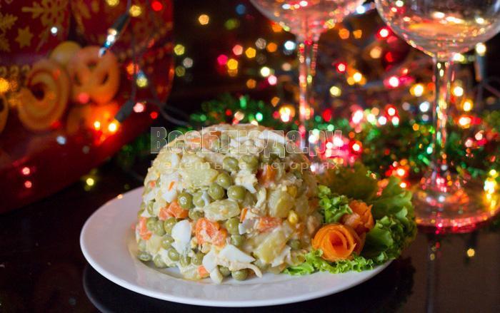 новый и простой салат на новый год