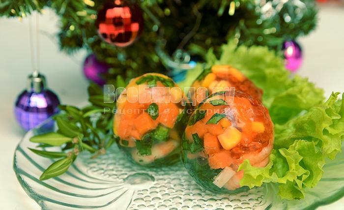 заливные яйца с креветками