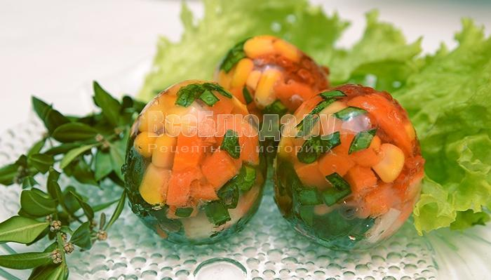 рецепт заливных яиц