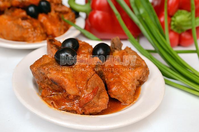 рецепт свиных ребрышек в сковороде