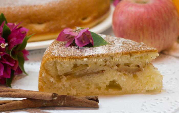 вкусный яблочный пирог на кефире