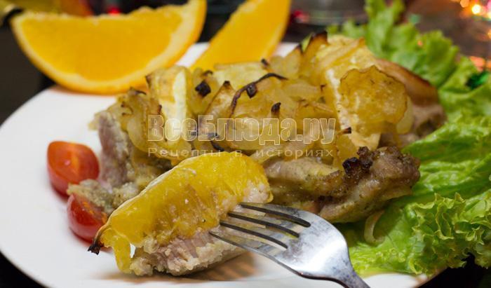 рецепт свинины в апельсинах на новый год