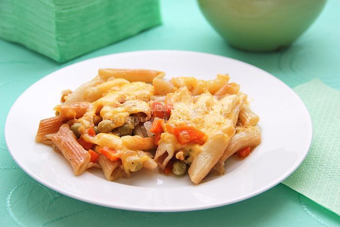 рецепт жареных макарон с сыром