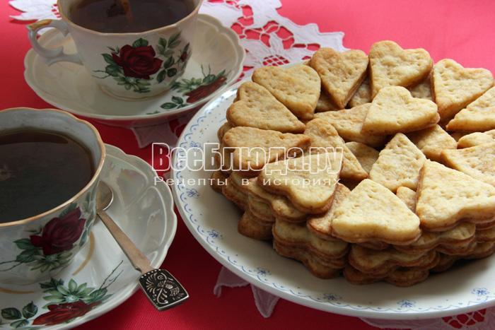 Творожное печенье Валентинки в форме сердечек