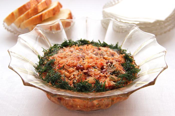 рецепт приготовления тушеной капусты в сковороде