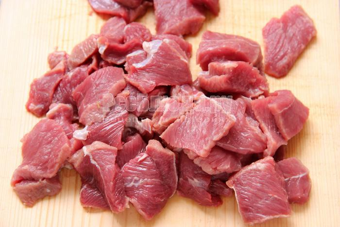 нарезаю мясо
