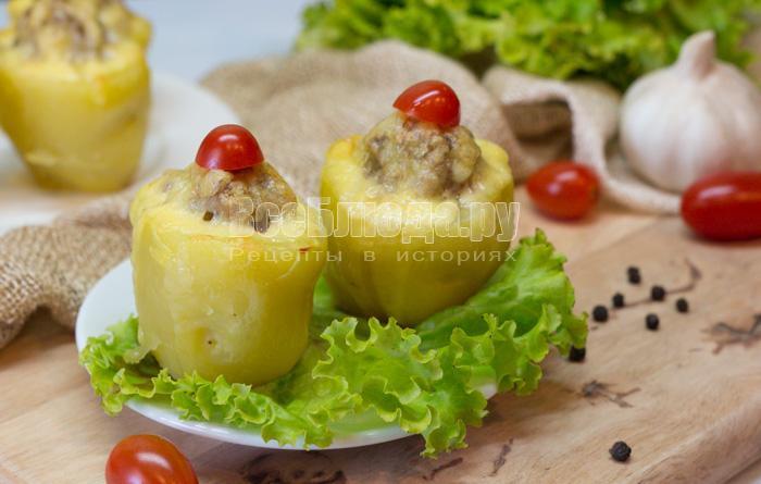 рецепт картошки в духовке с фаршем