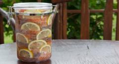 Маринованная семга с лимонами