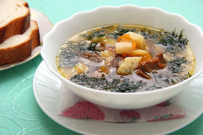 осенний тыквенный суп с мясом
