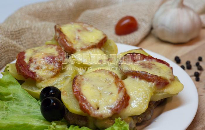 рецепт картошки с фаршем в духовке