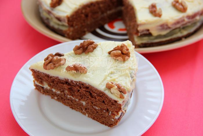 торт простой со сгущенкой