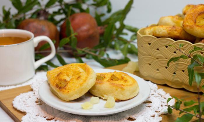 Творожное печенье с цукатами