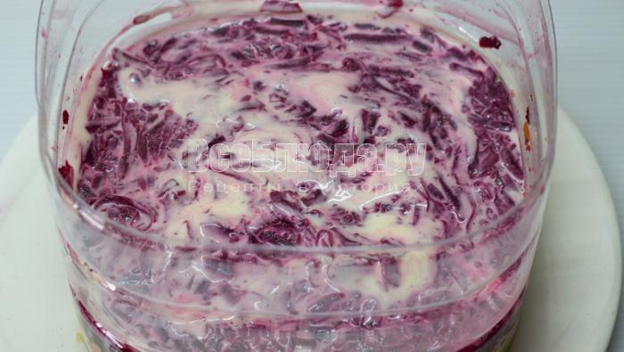 Салат торт Селедка под шубой