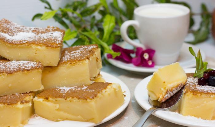 Умное пирожное, бисквит с заварным кремом