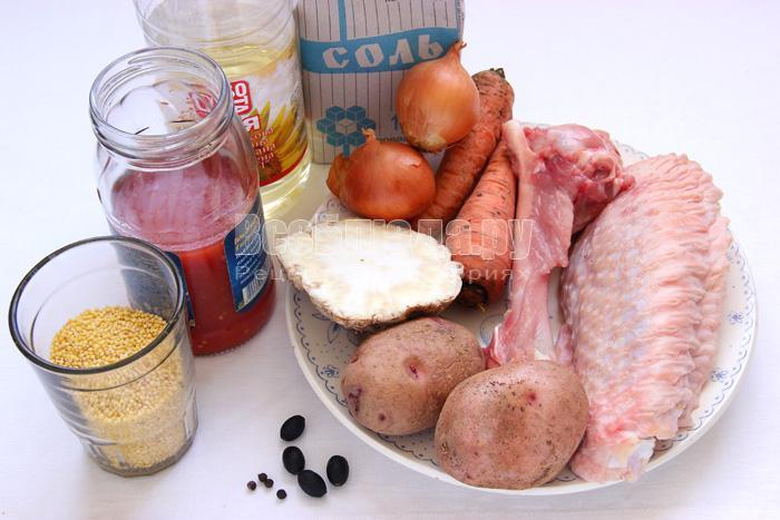 продукты для пшенного супа