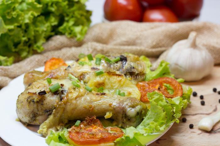 рецепт приготовления куриной голени в духовке