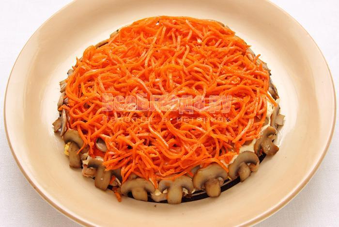 корейская морковь и грибы салат рецепт