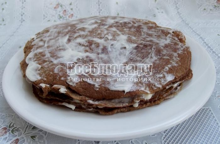 готовая стопка печеночных блинов