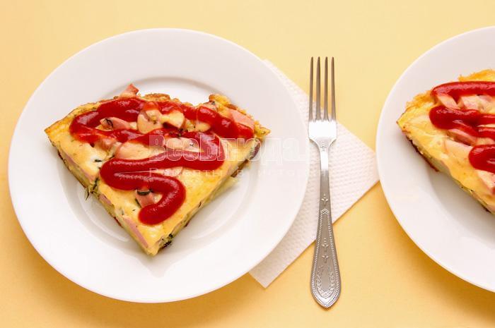 готовая ленивая пицца