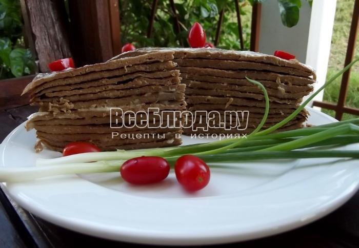 Печеночные блины с майонезом, простой рецепт