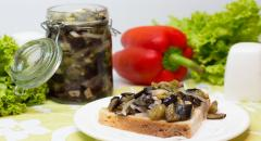 Маринованные баклажаны со вкусом грибов