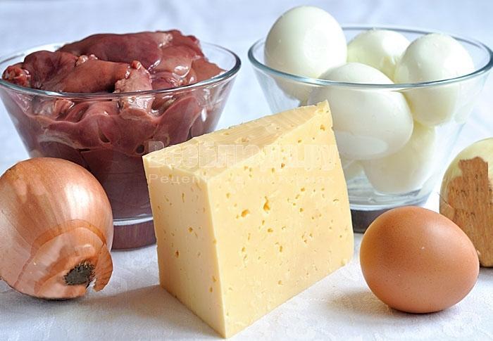 Как приготовить рулет из куриной печени и сыра