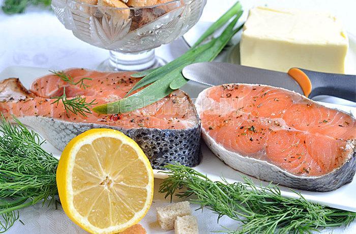ингредиенты для лосося