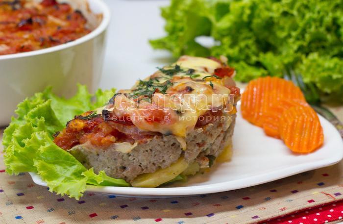 рецепт запеканки из картошки, фарша и сыра
