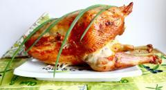 Цыпленок, запеченный в рукаве в сметанном соусе