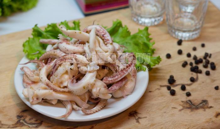 кальмары маринованные как приготовить рецепт с фото