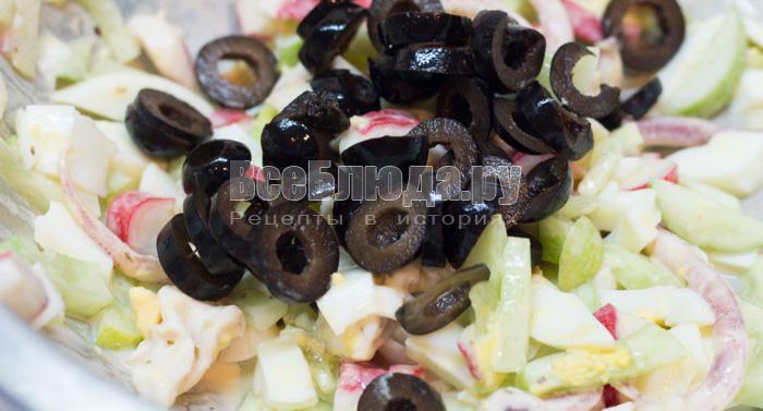 порезать маслины