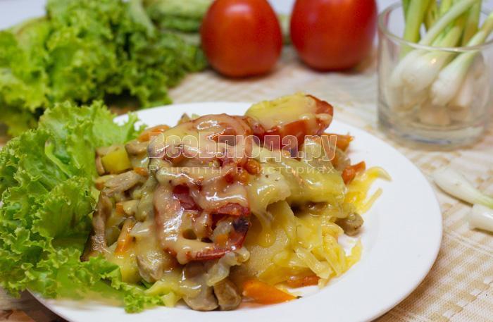 как приготовить запеканку с картошкой и грибами