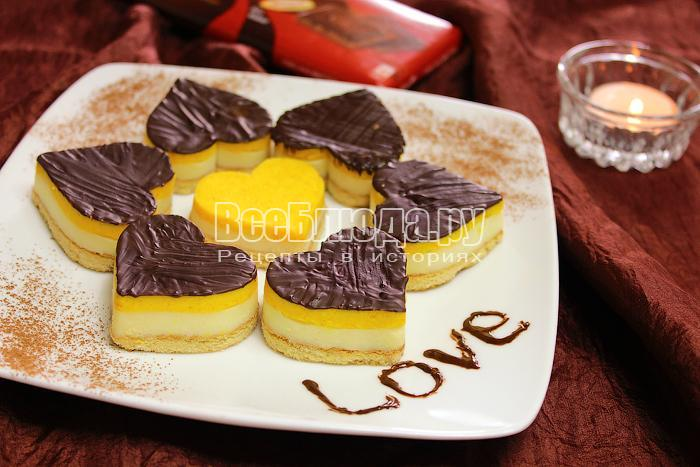 Готовый десерт на тарелке
