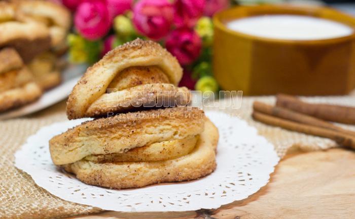 рецепт печенья из песочного теста с яблочными дольками