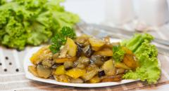 Чисанчи - баклажаны с картошкой по-китайски