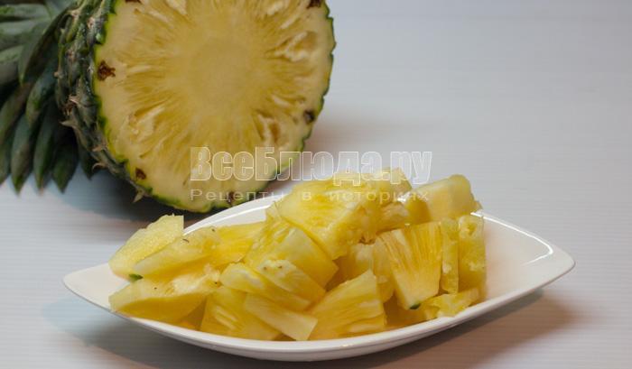 порезать ананас