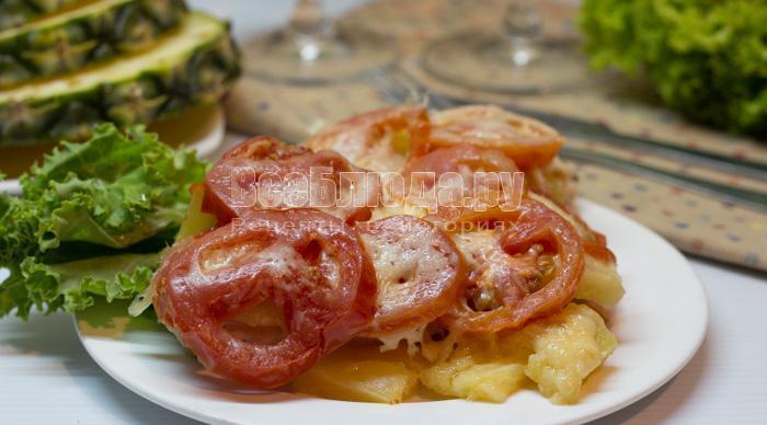 рецепт куриного филе в мультиварке с ананасами
