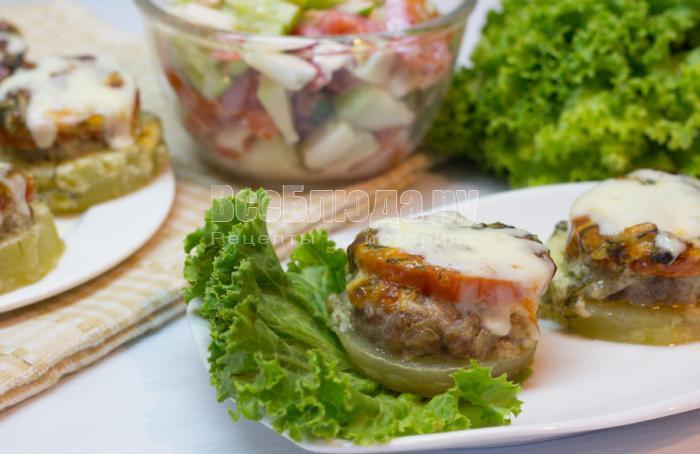 рецепт кабачков с мини котлетой