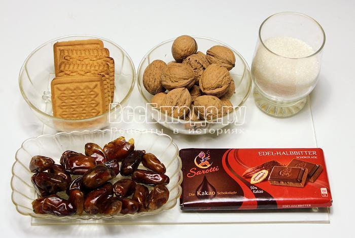 ингредиенты для конфет