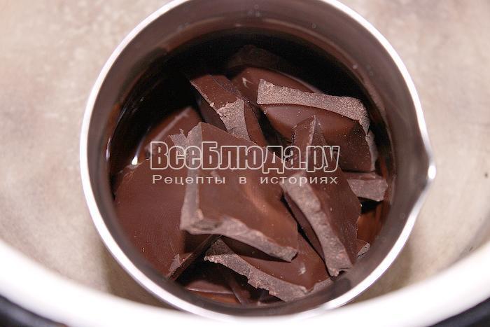 Поставили шоколад на водяную баню