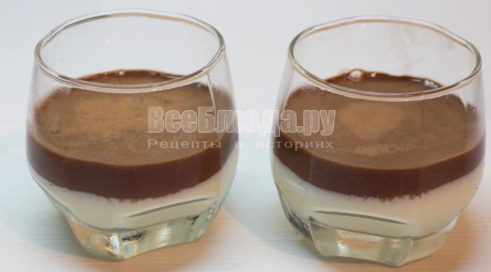 вылить шоколадный слой