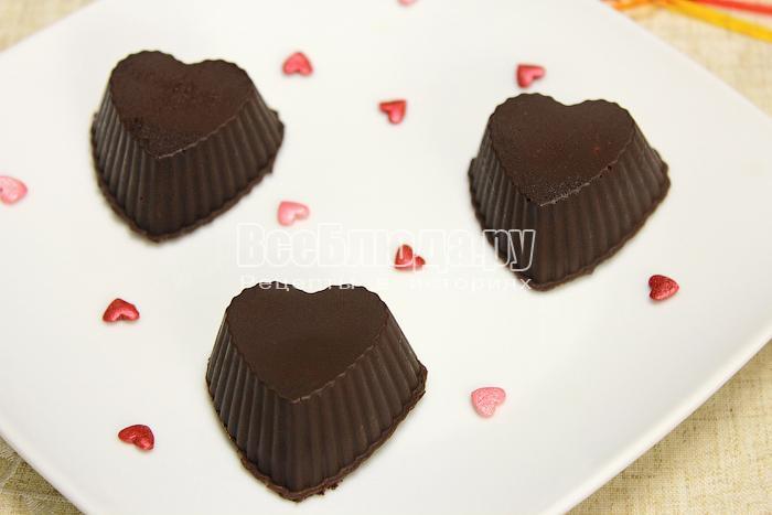 Готовые домашние конфеты из шоколада