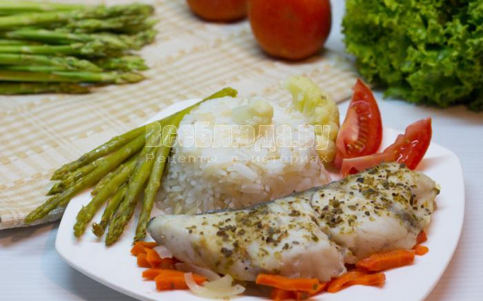 рецепт рыбы с овощами на морковке, фото