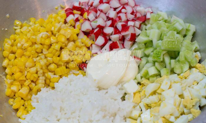 крабовый салат с тунцом рецепт