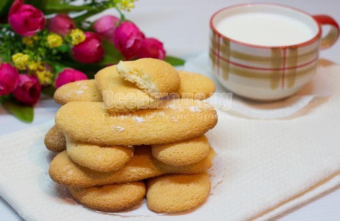 рецепт печенья савоярди с фото